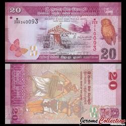 SRI LANKA - Billet de 20 Roupies - chouette - 2015 P123c
