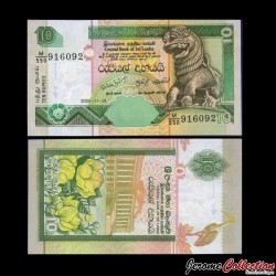 SRI LANKA - Billet de 10 Roupies - 2005