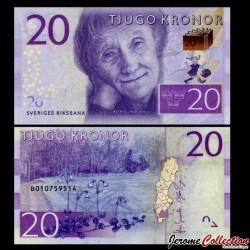 SUEDE - Billet de 20 Couronnes - Astrid Lindgren - 2015