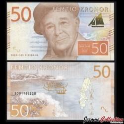 SUEDE - Billet de 50 Couronnes - Evert Taube - 2015 P70a