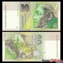 SLOVAQUIE - Billet de 20 Couronnes - Prince Pribina - 2006