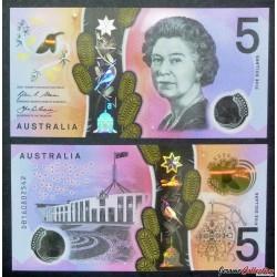 AUSTRALIE - Billet de 5 DOLLARS - 2016 - Polymer