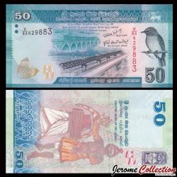 SRI LANKA - Billet de 50 Roupies - 2010