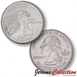 ETATS-UNIS / USA - PIECE de 25 Cents (Quarter States) - IDAHO - 2007