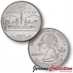 ETATS-UNIS / USA - PIECE de 25 Cents (Quarter States) - UTAH - 2007