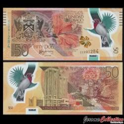 TRINITÉ-ET-TOBAGO - Billet de 50 DOLLARS - 50 Ans de la Banque Centrale - Polymer - 2014