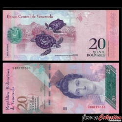 VENEZUELA - Billet de 20 Bolivares - 03 02 2011