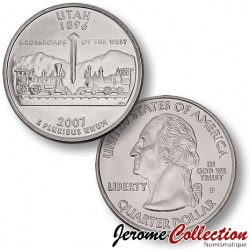 ETATS UNIS / USA - PIECE de 25 Cents (Quarter States) - UTAH - 2007 - P