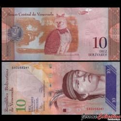 VENEZUELA - Billet de 10 Bolivares - 03 02 2011