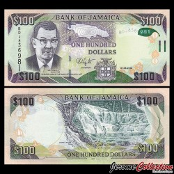 JAMAIQUE - Billet de 100 DOLLARS - 2016