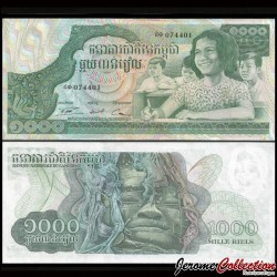 CAMBODGE - Billet de 1000 Riels - 1973