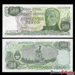 ARGENTINE - Billet de 500 Pesos - 1982 P303c