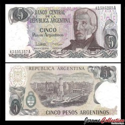 ARGENTINE - Billet de 5 Pesos Argentinos - 1983 / 1984 P312a2