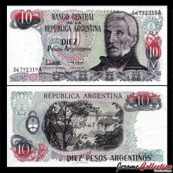 ARGENTINE - Billet de 10 Pesos Argentinos - 1983 / 1984 P313a2