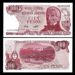 ARGENTINE - Billet de 100 Pesos - 1978 P302b2