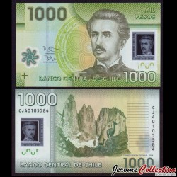 CHILI - BILLET de 1000 Pesos - Polymer - 2014