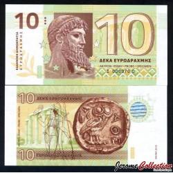 GRECE - Billet de 10 Drachmes - 2015