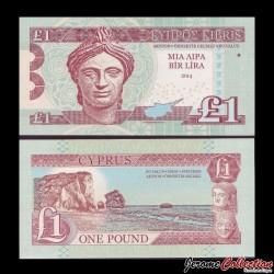 CHYPRE- Billet de 1 Livre / Bir Lira - 2014 0001 - Gabris