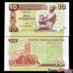 ANDORRE - Billet de 10 Pessetes - 2015