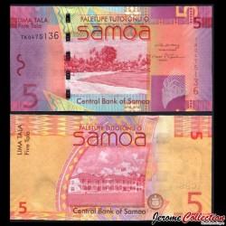 SAMOA - BILLET de 5 Tala - 2008