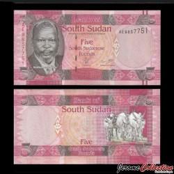 SUD SOUDAN - BILLET de 5 Livres Soudanaise - 2011