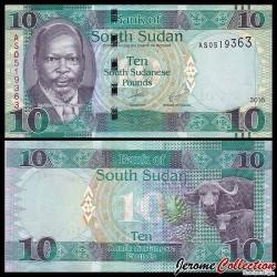 SUD SOUDAN - BILLET de 10 Livres Soudanaise - 2016
