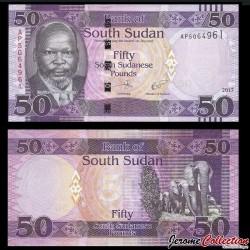 SUD SOUDAN - BILLET de 50 Livres Soudanaise - 2017 P14c