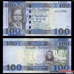 SUD SOUDAN - BILLET de 100 Livres Sud-Soudanaise - 2017 P15c