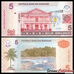 SURINAME - Billet de 5 DOLLARS - 01.01.2004