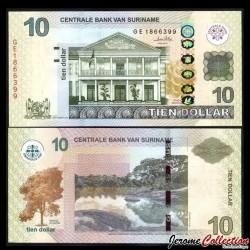 SURINAME - Billet de 10 DOLLARS - 01.09.2010