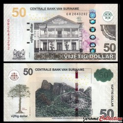 SURINAME - Billet de 50 DOLLARS - 01.04.2012