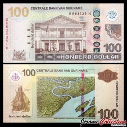 SURINAME - Billet de 100 DOLLARS - 01.04.2012