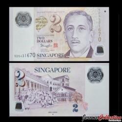 SINGAPOUR - Billet de 2 DOLLARS - Polymer - 2006 / 2015 P46f ♦