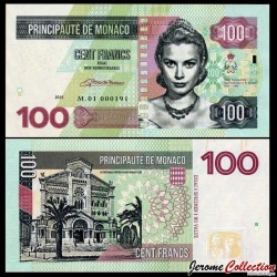 MONACO - Billet de 100 Francs - Princesse Grace Kelly - 2015