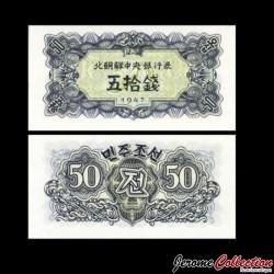 C0REE DU NORD - Billet de 50 Chon - 1947