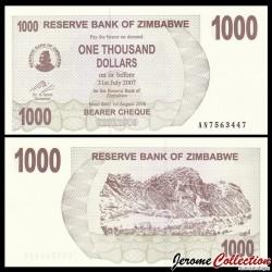 ZIMBABWE - Billet de 1000 DOLLARS - Bearer cheque - 01.08.2006 P44a