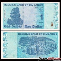 ZIMBABWE - Billet de 1 DOLLAR - 2009
