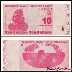 ZIMBABWE - Billet de 10 DOLLARS - 2009