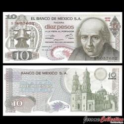 MEXIQUE - Billet de 10 Pesos - Miguel Hidalgo y Costilla - 15.05.1975