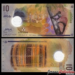MALDIVES - Billet de 10 Rufiyaa - Polymer - 2015