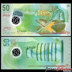 MALDIVES - Billet de 50 Rufiyaa - Polymer - 2015