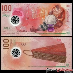 MALDIVES - Billet de 100 Rufiyaa - Polymer - 2015