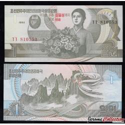 COREE DU NORD - Billet de 1 Won - 1992 / 2007 - 95 IEME ANNIVERSAIRE P49a
