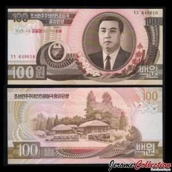 C0REE DU NORD - Billet de 100 Won - 1992 / 2007 - 95 IEME ANNIVERSAIRE