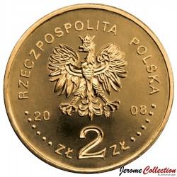 POLOGNE - PIECE de 2 ZLOTE - 90e anniversaire de l'Indépendance - 2008