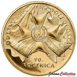 POLOGNE - PIECE de 2 ZLOTE - 90e anniversaire de l'Indépendance - 2008 Y#650