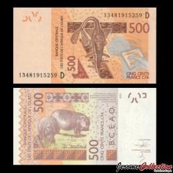 BCEAO - MALI - Billet de 500 Francs - 2003 / 2013