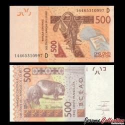 BCEAO - MALI - Billet de 500 Francs - 2003 / 2014