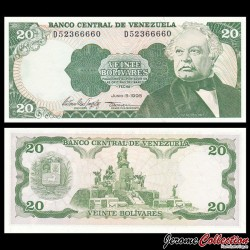 VENEZUELA - Billet de 20 Bolivares - 05 06 1995