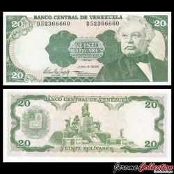 VENEZUELA - Billet de 20 Bolivares - 05 06 1995 P63e